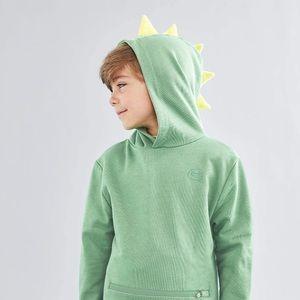 CUBCOATS Dinosaur Green Hoodie and Plush Boys 7